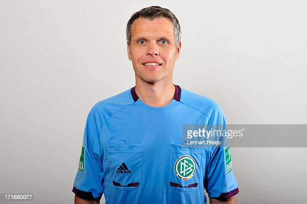 Referee Michael Weiner poses during the DFB referee team presentation on June 27 2013 in Grassau Germany