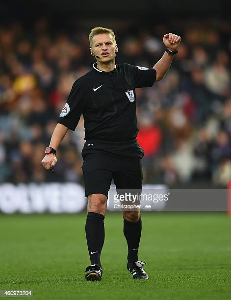 Referee Mike Jones during the Barclays Premier League match between Queens Park Rangers and Crystal Palace at Loftus Road on December 28 2014 in...