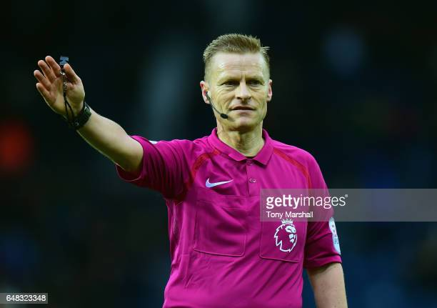 Referee Mike Jones during the Premier League match between West Bromwich Albion and Crystal Palace at The Hawthorns on March 4 2017 in West Bromwich...