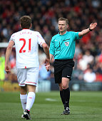 Referee Mike Jones in action during the Barclays Premier League match between AFC Bournemouth and Liverpool at the Vitality Stadium on April 17 2016...