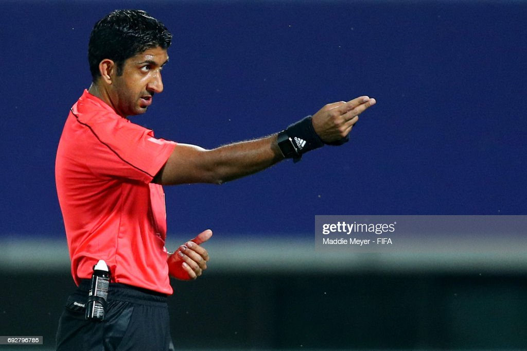 Referee Mohammed Abdullah Hassan during the FIFA U-20 World Cup Korea Republic 2017 Quarter Final match between Mexico and England at Cheonan Baekseok Stadium on June 5, 2017 in Cheonan, South Korea.