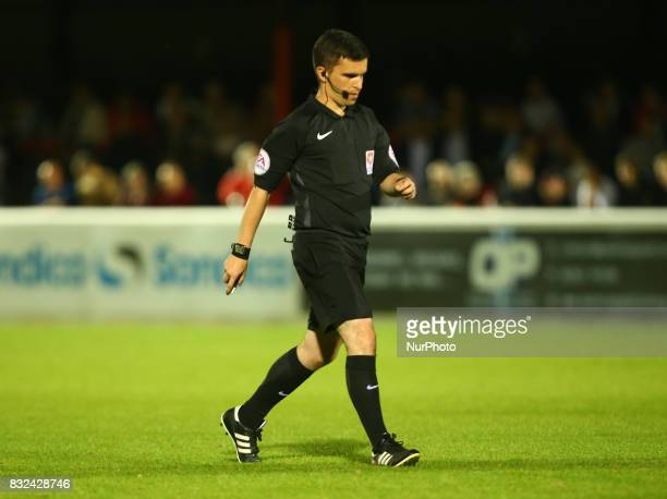 Referee Mr C O'Donnell during Vanarama National League Football match between Dagenham and Redbridge against Ebbsfleet United at Chigwell...