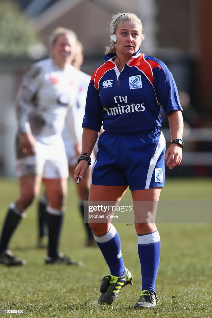 Referee Nicky Inwood of New Zealand during the Wales v England Womens Six Nations match at the Talbot Athletic Ground on March 17, 2013 in Port Talbot, Wales.