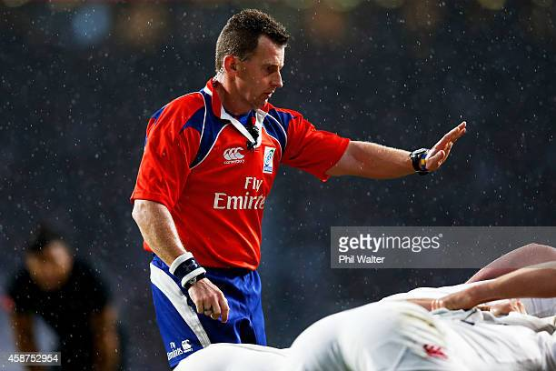 Referee Nigel Owens of Wales in action during the QBE International match between England and New Zealand at Twickenham Stadium on November 8 2014 in...