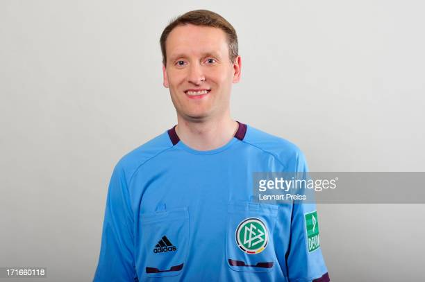 Referee Norbert Grudzinski poses during the DFB referee team presentation on June 27 2013 in Grassau Germany