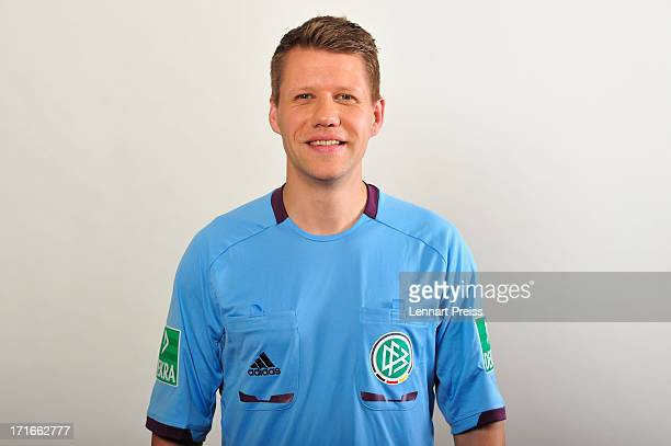 Referee Patrick Ittrich poses during the DFB referee team presentation on June 27 2013 in Grassau Germany