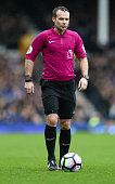 liverpool england referee paul tierney during