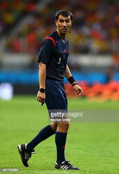 Referee Ravshan Irmatov looks on during the 2014 FIFA World Cup Brazil Quarter Final match between the Netherlands and Costa Rica at Arena Fonte Nova...
