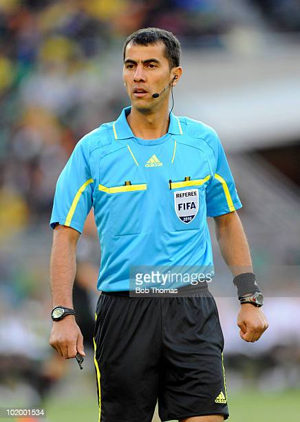 Referee Ravshan Irmatov of Uzbekistan during the 2010 FIFA World Cup South Africa Group A match between South Africa and Mexico at Soccer City...