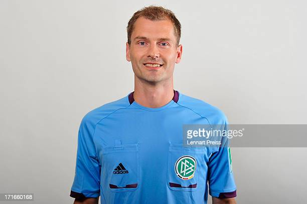 Referee Rene Rohde poses during the DFB referee team presentation on June 27 2013 in Grassau Germany