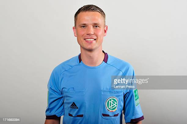 Referee Robert Kampka poses during the DFB referee team presentation on June 27 2013 in Grassau Germany