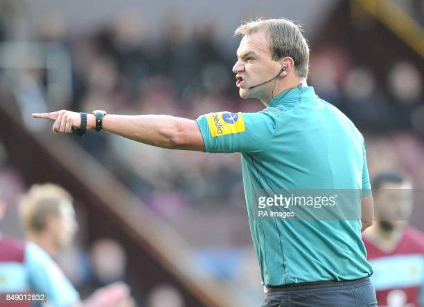 Referee Robert Madley during the npower Football League Championship match at Turf Moor Burnley