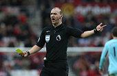 sunderland england referee robert madley gestures