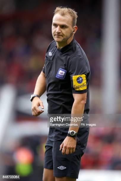 Referee Robert Madley