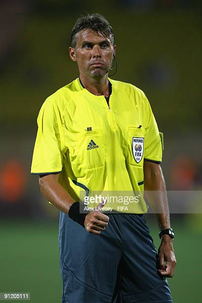 Referee Robert Rosetti of Italy during the FIFA U20 World Cup Group B match between Nigeria and Venezuela at the Al Salam Stadium on September 25...