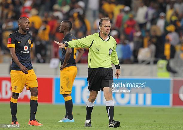 Referee Robert Smith during the Absa Premiership match between Ajax Cape Town and Kaizer Chiefs at Cape Town Stadium on May 01 2013 in Cape Town...