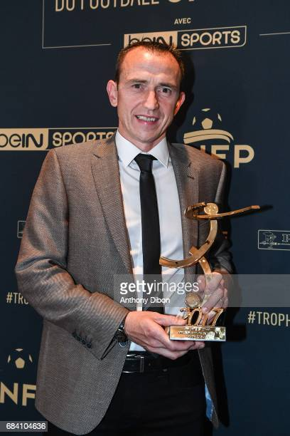 Referee Ruddy Buquet during the ceremony for the UNFP Trophy Awards on May 15 2017 in Paris France