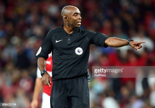 Referee Samuel Allison during Premier League 2 match between Arsenal Under 23s against Manchester City Under 23s at Emirates Stadium London on 21...