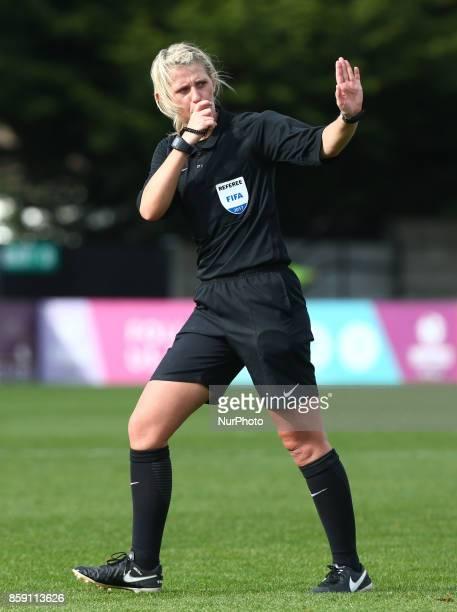 Referee Sarah Garratt during Women's Super League 1match between Arsenal against Bristol City Women at Meadow Park Borehamwood FC on 08 Oct 2017