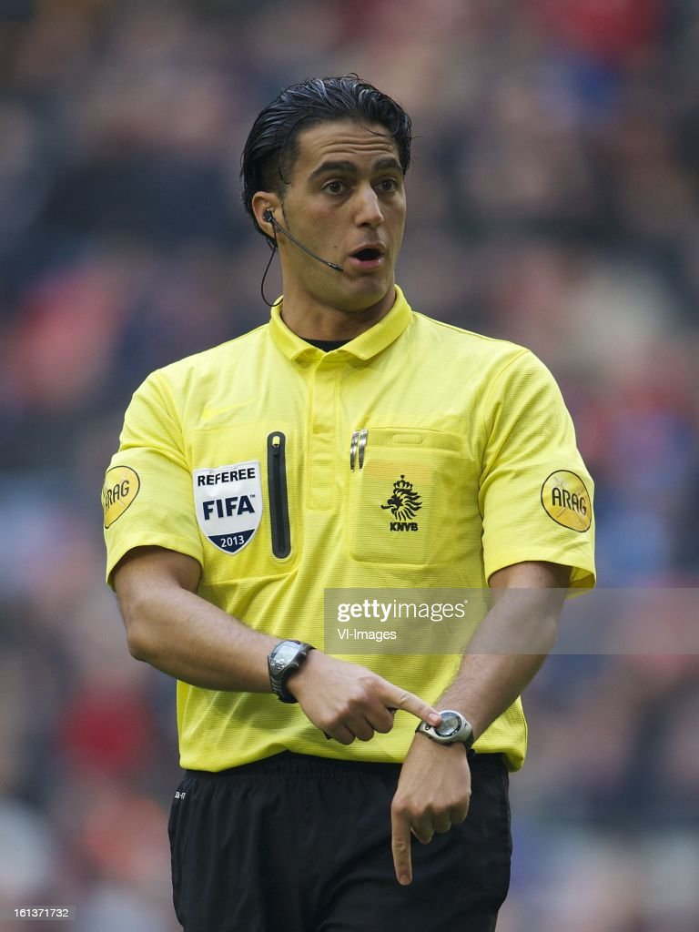 referee Serdar Gozubuyuk during the Dutch Eredivisie match between Ajax Amsterdam and Roda JC Kerkrade at the Amsterdam Arena on february 10, 2013 in Amsterdam, The Netherlands