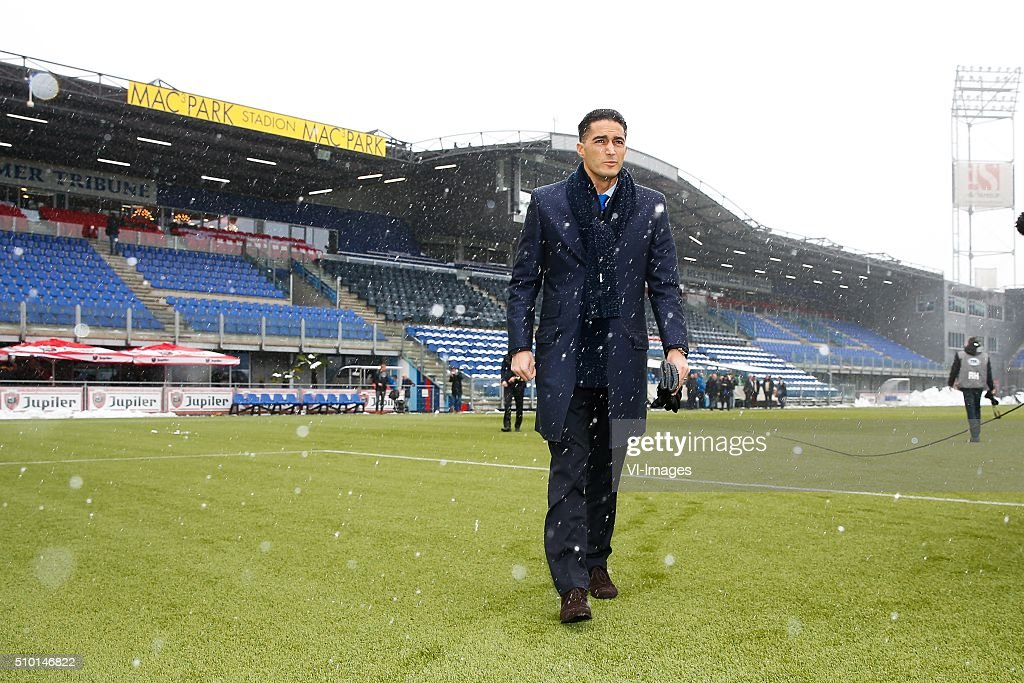 referee Serdar Gozubuyuk during the Dutch Eredivisie match between PEC Zwolle and Feyenoord Rotterdam at the IJsseldelta stadium on February 14, 2016 in Zwolle, The Netherlands