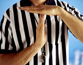 Referee signaling time-out