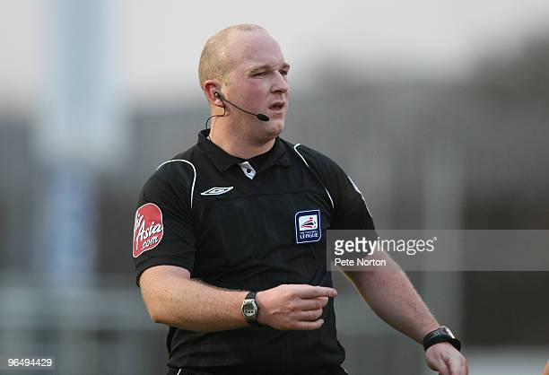 Referee Simon Hooper in action during the Coca Cola League Two Match between Dagenham Redbridge and Northampton Town at the London Borough of Barking...