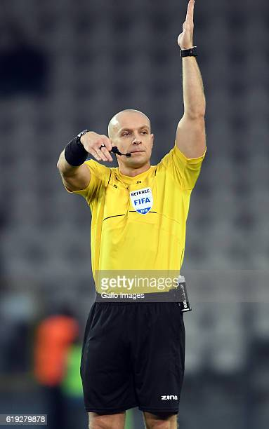 Referee Szymon Marciniak during the LOTTO Extraklasa match between Cracovia and Jagiellonia Bialystok on October 30 2016 in Krakow Poland