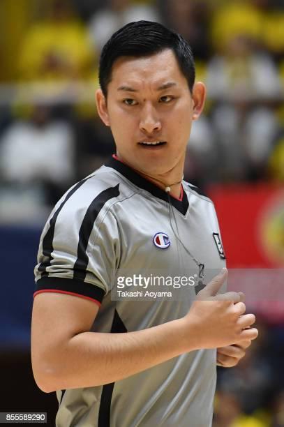Referee Takaki Kato in action during the BLeague game between Tochigi Brex and Seahorses Mikawa at Brex Arena Utsunomiya on September 29 2017 in...