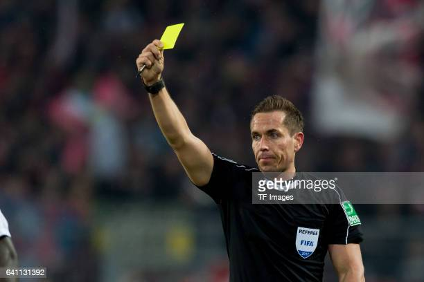 Referee Tobias Stieler in action during the Bundesliga soccer match between Borussia Dortmund and RB Leipzig at the Signal Iduna Park in Dortmund...