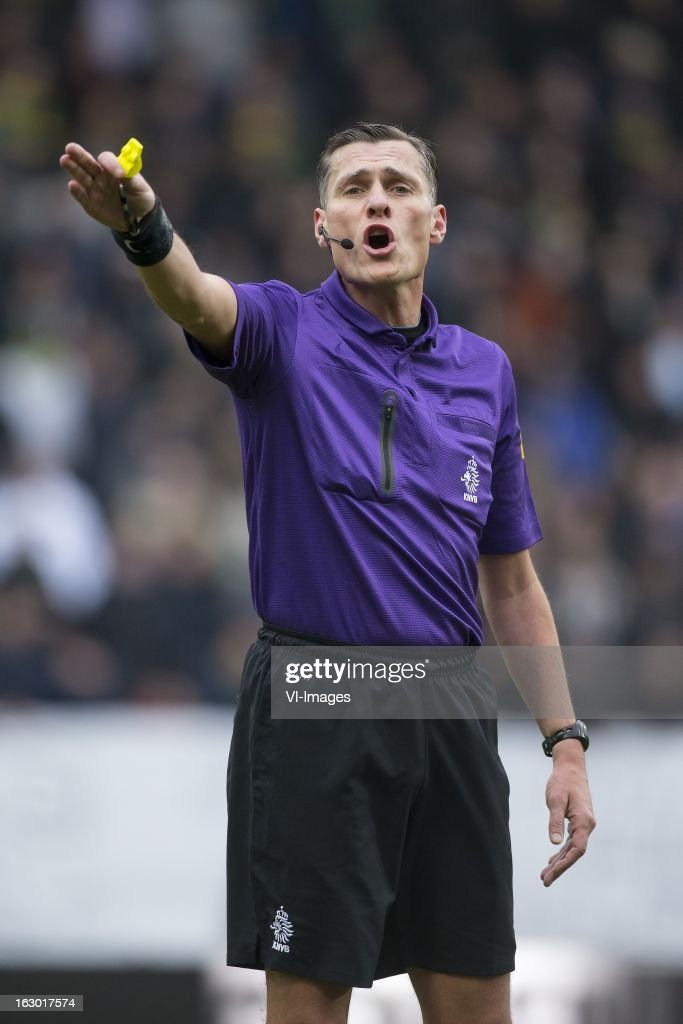 Referee Tom van Sichem during the Dutch Eredivisie match between ADO Den Haag and Heracles Almelo at the Kyocera Stadium on march 03, 2013 in The Hague, The Netherlands