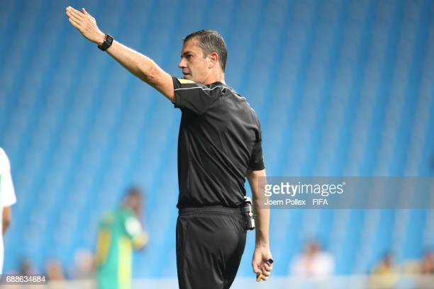 Referee Viktor Kassai during the FIFA U20 World Cup Korea Republic 2017 group F match between Saudi Arabia and Senegal at Incheon Munhak Stadium on...
