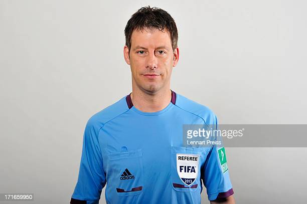 Referee Wolfgang Stark poses during the DFB referee team presentation on June 27 2013 in Grassau Germany