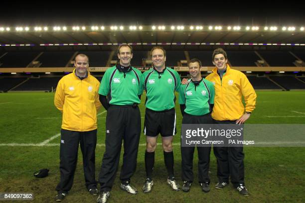 Referees at the Under18's Cup Final at Murrayfield