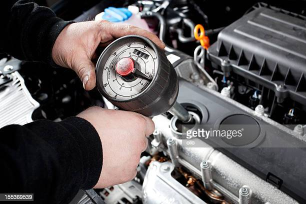 Refilling engine oil