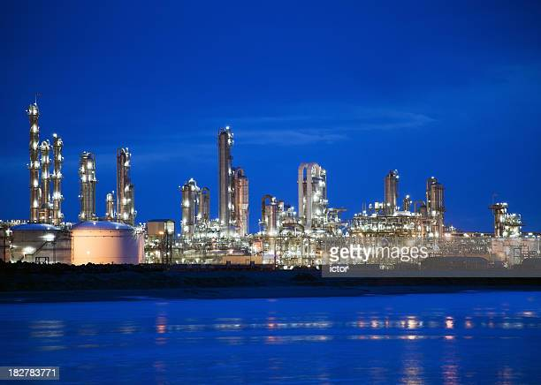 Refinery complex at night