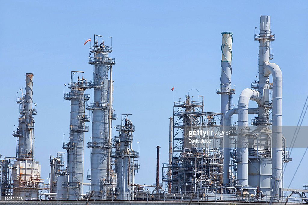Refinery factory at the Port of Los Angeles, California, USA