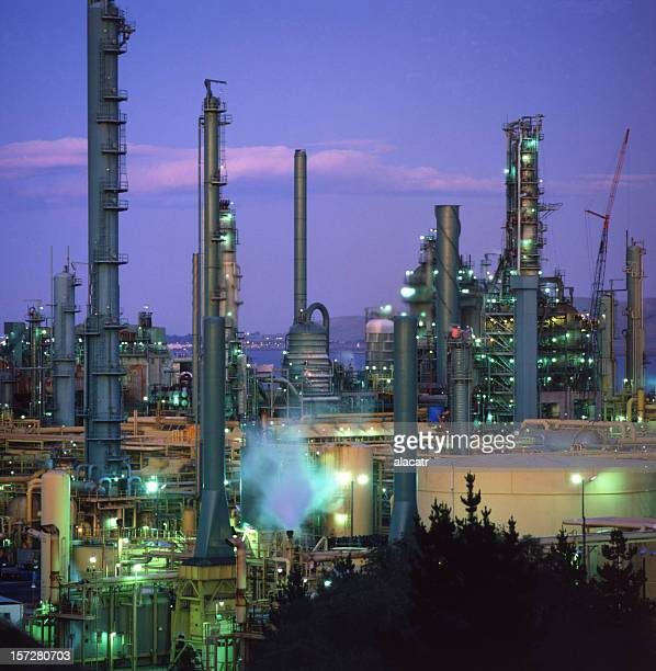 Refinery, night