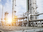 Refinery oil and gas industry.