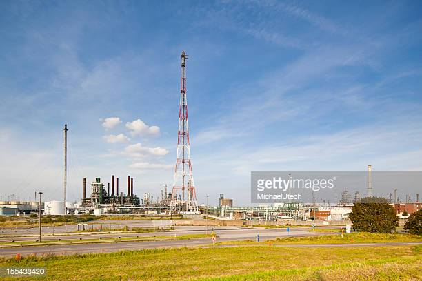 Refinery With Flare Stack