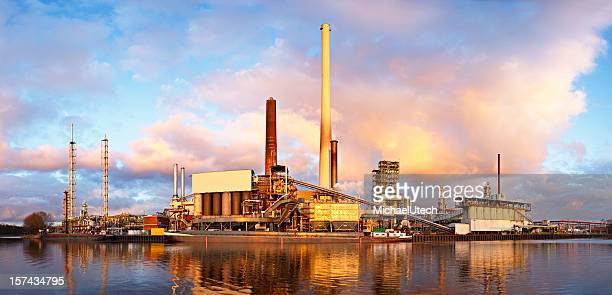 Refinery With Warm Evening Light