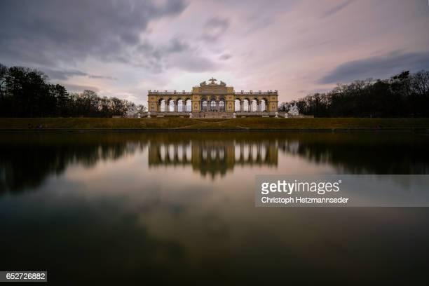 Reflected Gloriette building