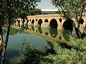Reflected old bridge in Iran