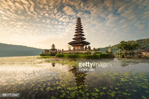 Reflecting of Pura Ulun Danu Bratan Temple