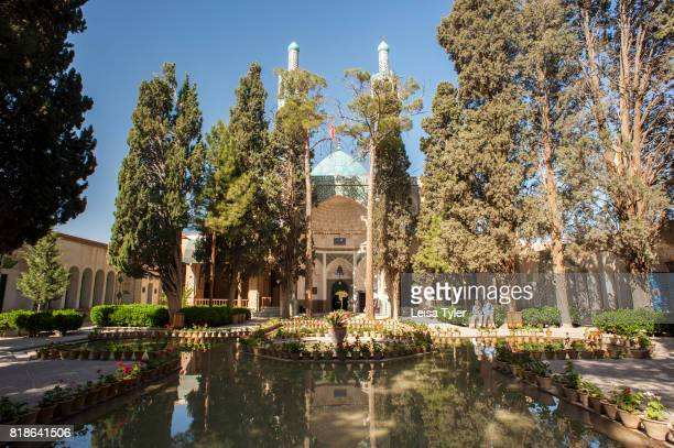 Reflecting ponds at the Shah Nematollah Vali Shrine a historical complex located in Mahan Iran which contains the mausoleum of Shah Nematollah Vali a...