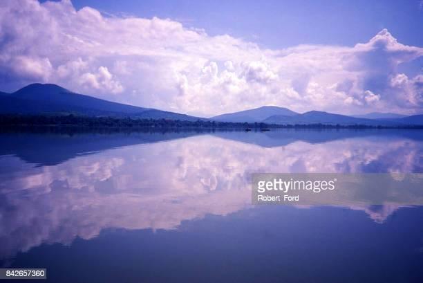 Reflection in Lake Patzcuaro Mexico