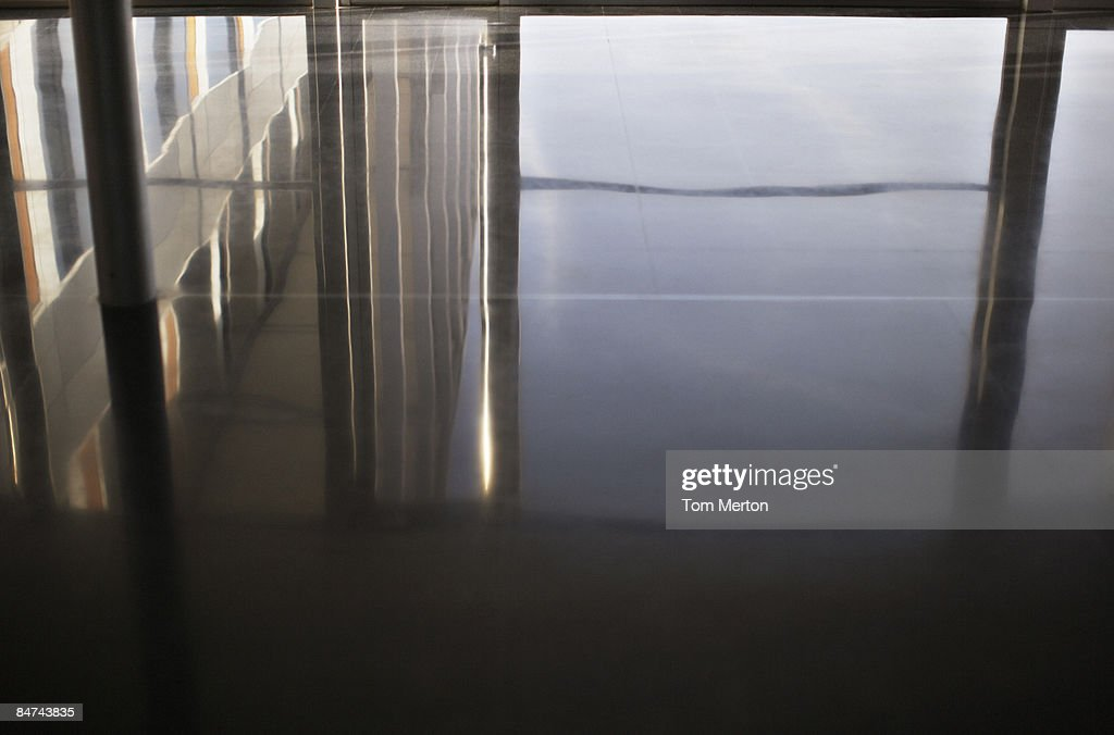 Reflection in office floor