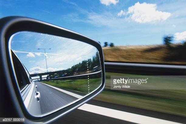 Reflection in Rearview Mirror