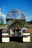 Reflection in Semi-truck