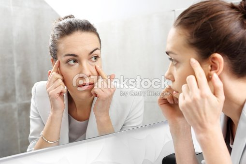 Reflection in the mirror. : Stock Photo